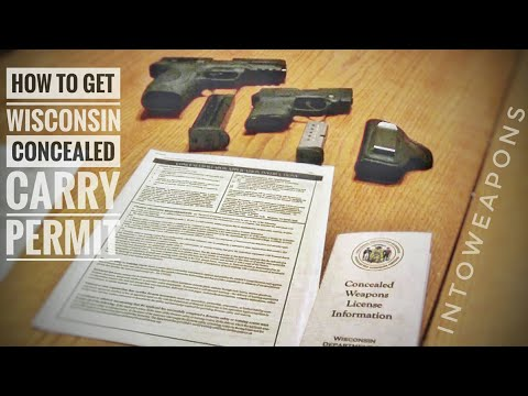 WI CCW License:  Wisconsin Concealed Carry Weapon Permit process