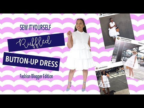 DIY Button-Up Ruffle Dress