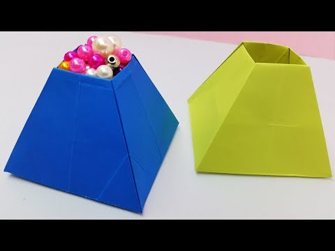 How to make a paper pyramid box | Easy diy crafts
