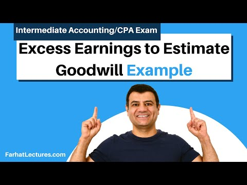 Example: Excess Earnings to Estimate Goodwill | Advanced Accounting | CPA Exam FAR | Ch 1 P 4