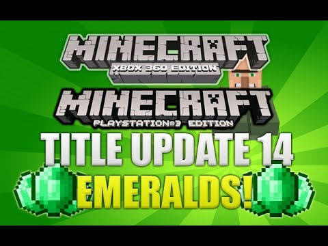 Minecraft Xbox 360 & PS3: Title Update 14 Emeralds & Village Trading Explained TU14 (ADDITION!)