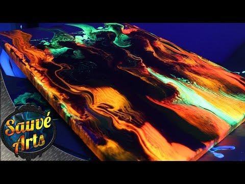 Fluid Acrylic Painting - Bright Fluorescent SWIPE