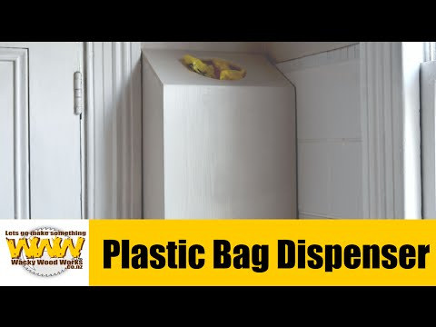 Do you have this problem? Make a plastic bag dispenser - Off the Cuff - Wacky Wood Works