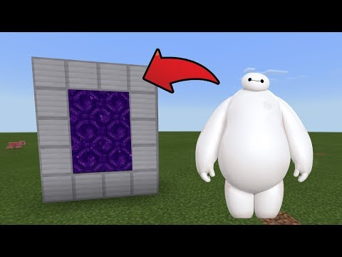 How To Make a Portal to the Baymax Dimension in MCPE (Minecraft PE)