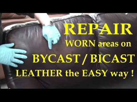 Fix WORN areas on BYCAST / BICAST LEATHER couch with LEATHER REPAIR KIT