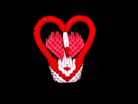 3D ORIGAMI SMALL SWAN TUTORIAL (tutorial lebada 3d origami )