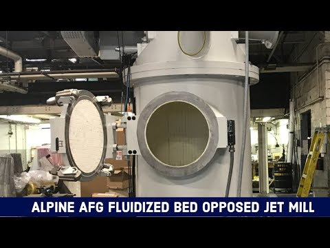Alpine AFG Fluidized Bed Opposed Jet Mill