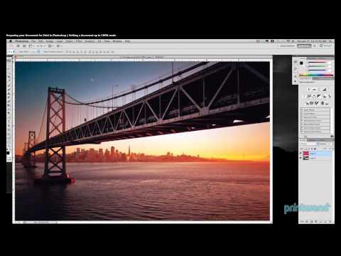 Setting CMYK mode in Photoshop - Printing Tutorial 4/7