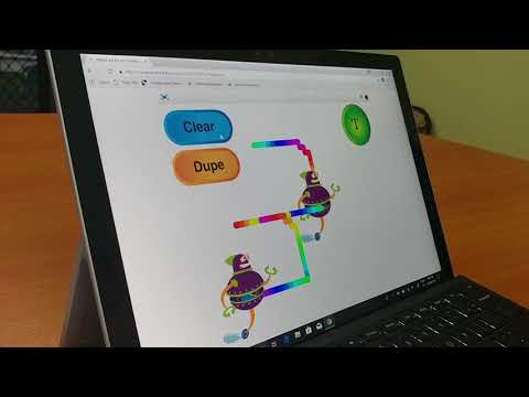 An interactive art project with Scratch