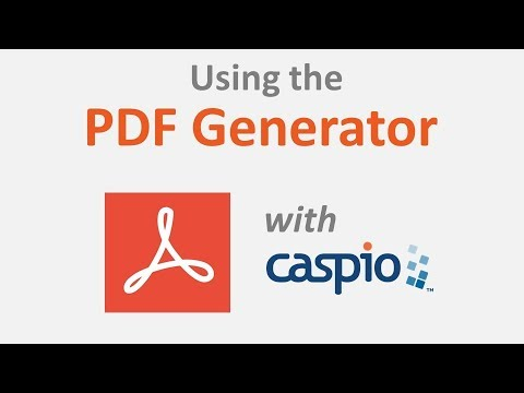 Using the PDF Generator Feature with Caspio