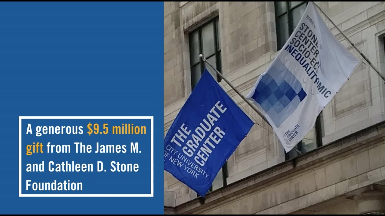 $9.5 Million Gift to The Graduate Center Advances Research on Income and Wealth Inequality
