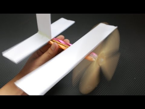 How To Make Rubber Band Plane For Kids | Simple Life Hack Rubber Band Plane