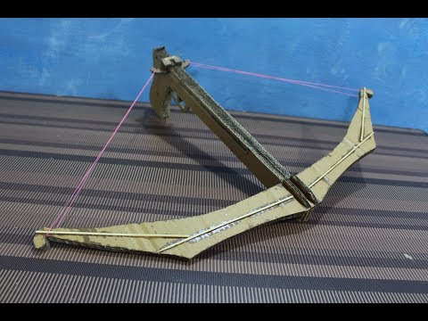 How to make a cardboard crossbow
