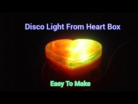 How to make colorful heart box at home