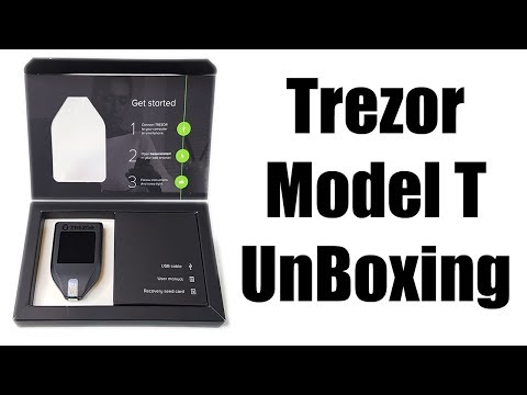 Trezor Model T Unboxing - New Cryptocoin Hardware Wallet