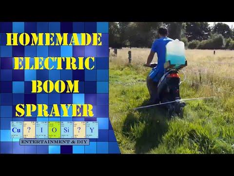 Homemade electric boom sprayer