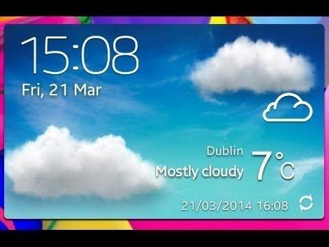 Widget De clima Estilo Samsung Galaxy S4 |TouchWiz Galaxy S5 | Estilo | Xwidget | Español 2015