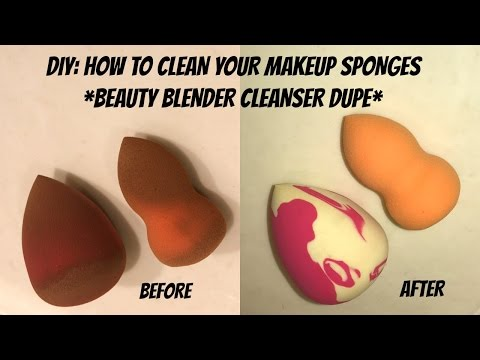 DIY: How To Clean Your Makeup Sponges (Beauty Blender Cleanser Dupe)