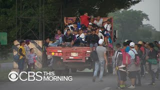 Mother in migrant caravan makes an emotional appeal to President Trump