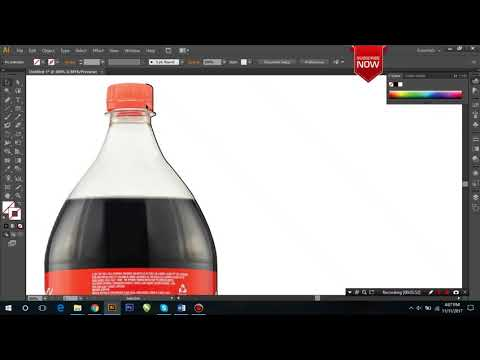 How to create | #3D | anything vector in illustrator #coca cola bottle#