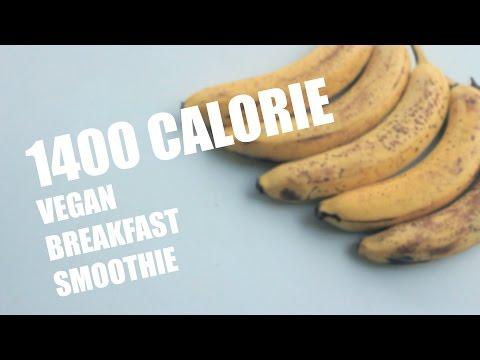 High Calorie Vegan Breakfast Smoothie