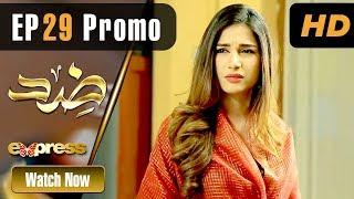 Pakistani Drama   Zid - Episode 29 Promo   Express TV Dramas   Arfaa Faryal, Muneeb Butt