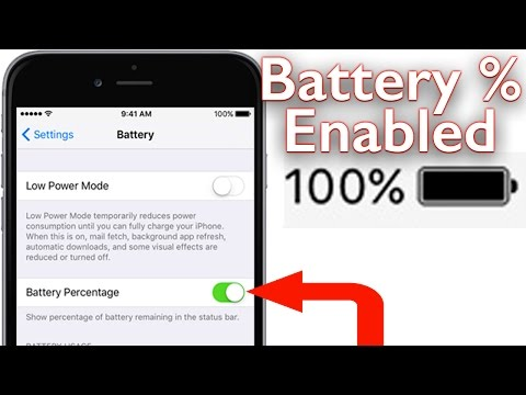 How To Get The Battery Percentage % Icon iPhone 6s and Older iOS 9