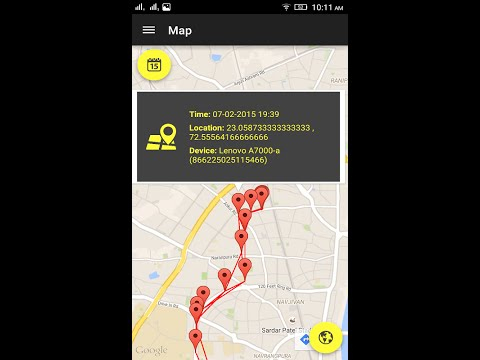 Mobile Tracker Online Android Application