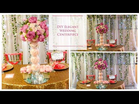 DIY Tall Elegant Wedding Centerpiece | DIY Wedding Centerpieces | DIY Tutorial |DOLLAR TREE!!!