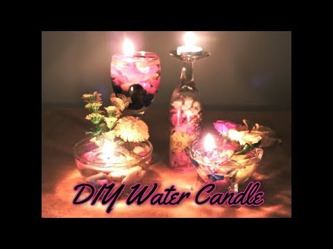 DIY Beautiful Water Candle || Diwali Decoration Ideas || How to make water candle at home ||
