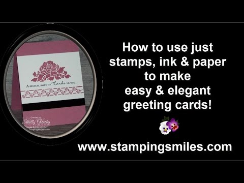 Easy and Elegant Stampin' Up! Floral Phrases Card