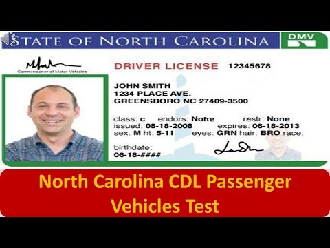 North Carolina CDL Passenger Vehicles Test