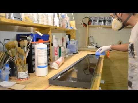 how to apply priming wax and PVA in a mold Comment passer la cire primaire et le PVA dans un moule