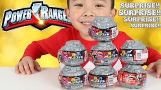 Power Rangers Ninja Surprise Blind Capsule Toys Opening Fun With Ckn Toys