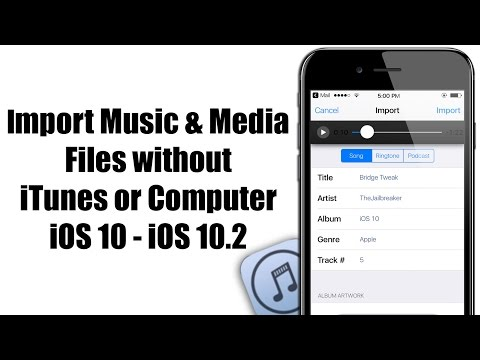 How to IMPORT Music & Media Files without iTunes or Computer - iOS 10 / 10.3.3