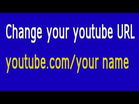 Change Youtube URL