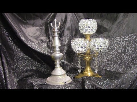 DIY $16 Gold 5 Arm Crystal Candelabra Votive Candle Holders  Table Centerpiece