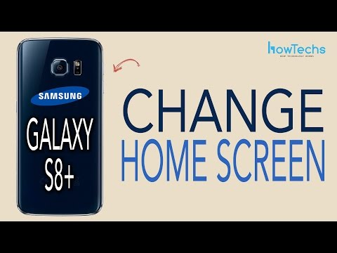 Samsung Galaxy S8/S8+ - How to change Home Screen App Layout