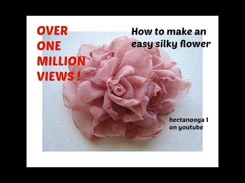 EASY METHOD, BEAUTIFUL SILKY FLOWER # 2, DIY fabric flower tutorial