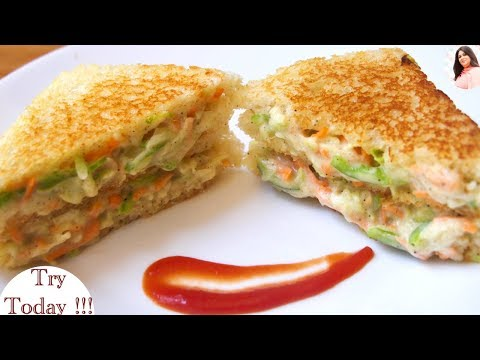 Quick Breakfast / lunch box recipe, Mayo Cream Cheese Sandwich, Mayo sandwich, coleslaw