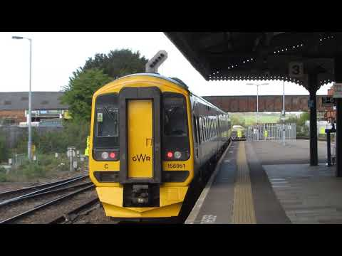 GWR Class 158961 Departures Westbury for Cardiff Central via Bristol Temple Meads