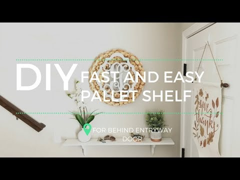 How to Build a Pallet Shelf the Fast and Easy Way!