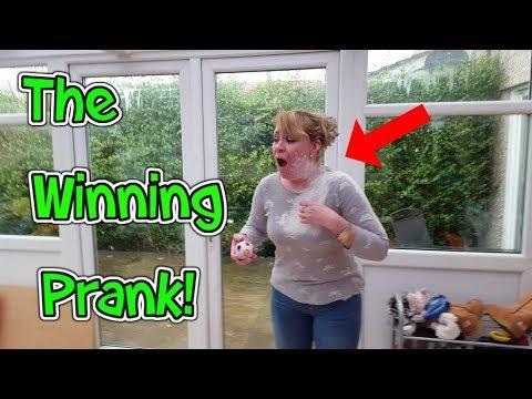 The Winning Prank!! Flour In Face Prank!