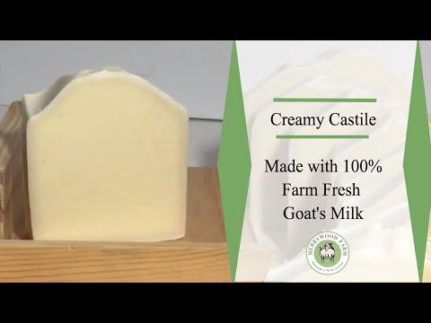 Creamy Castile Goat Milk Soap | Making Cold Process Soap | Merrywood Farm
