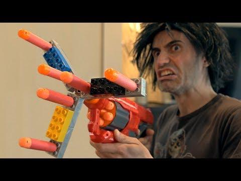 NERF WAR: LEGO FIDGET SPINNER NERF GUN!