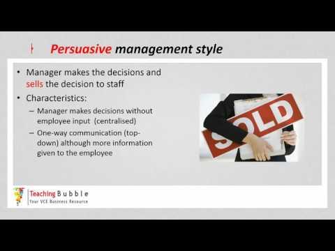 VCE Business Management - Management Styles pt1