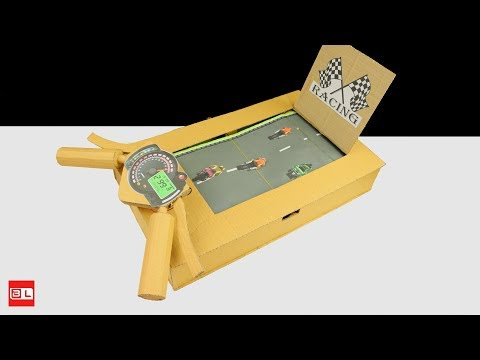 How To Make Motorcycle Racing Desktop Game from Cardboard - Amazing Game from Cardboard