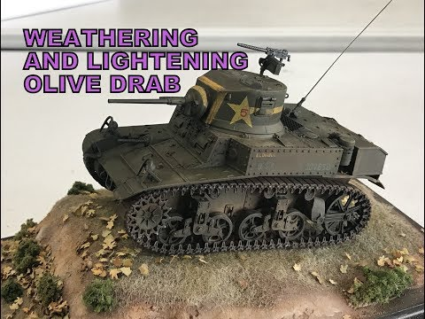U.S tanks  Olive drab : weathering, chipping, mixing and lightening complete how to