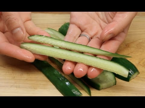 How to Slice Cucumber for Sushi Rolls
