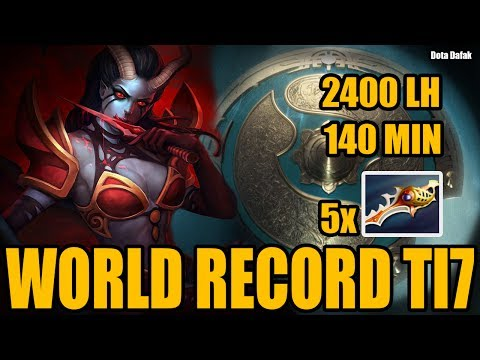 WORLD RECORD TI7 140 MIN + 2400 LAST HIT - EMPIRE VEGA - Dota 2